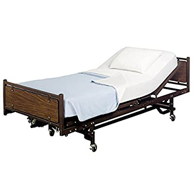 """Crescent Comfy 100% Cotton Fitted Hospital Bed Sheet, Twin Extra-Long 36""""X80""""X9"""""""