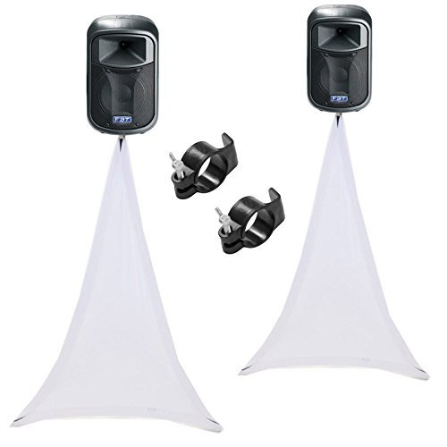 (2) Scrim King SS-SPKW White Single Sided Speaker - Scrim King Speaker Cover