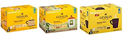 Gevalia K-Cup Variety Pack (Signature Blend, Colombia & Majestic Roast) (36-Count) [RETAIL PACKAGING]