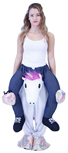 Costume Agent Men's Piggyback UNICORN Ride-On Costume, Unicorn, Adult (Creative Halloween Costumes For Men)