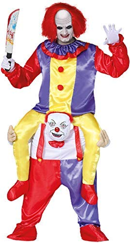 Mens Ladies Ride On Step In Killer Clown Halloween Film Movie Book TV Circus Carnival Fancy Dress Costume Outfit]()