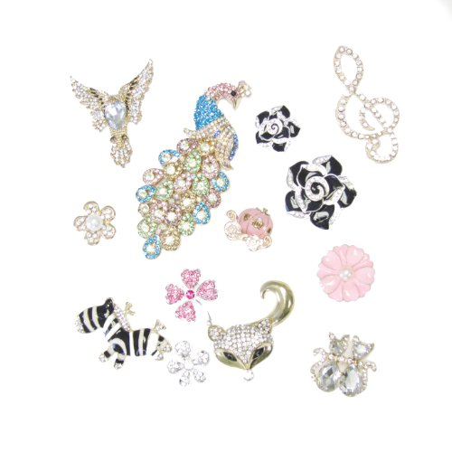 Mixed Variations Of Sparkling Trendy Flashy Flat Back Rhinestone And Acrylic Pendants For Jewelry Arts Design Crafts Pink Guitar