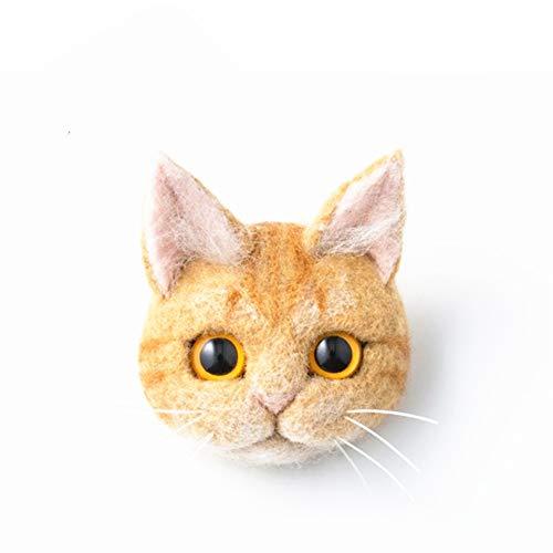 DIY Needle Felting Kit with Basic Needle Felting Tools,Kit for Beginners,Cat Kitten,Animal (Ginger Cat)