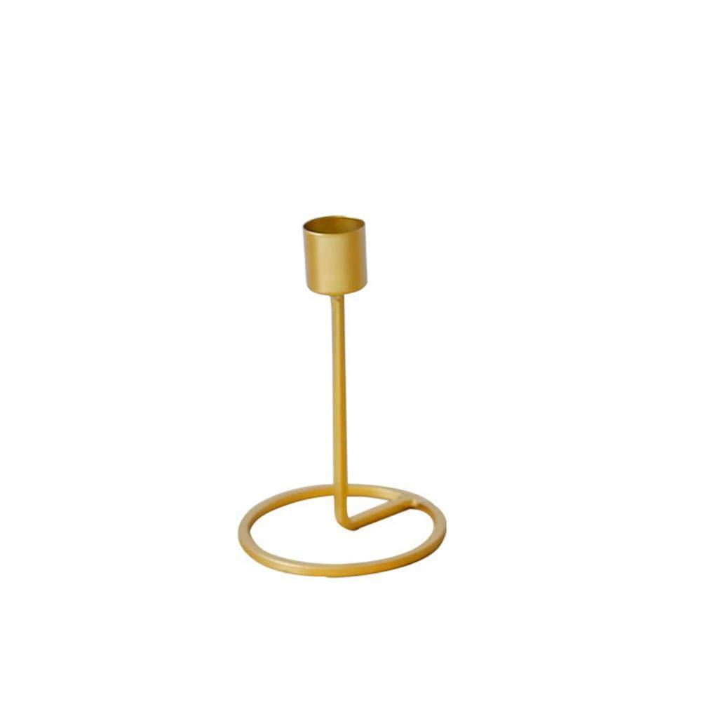 Candele a Colonna, Oro a Stelo Lungo portacandele portacandele Supporto per Home Decor Eventi Speciali e Vacanze Small Aolvo