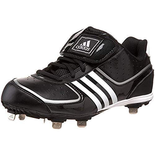 adidas Women's Fastpitch 4 Metal W Softball Shoe,Black/Running White/Metallic Silver,7.5 M - Metallic Spike Collar