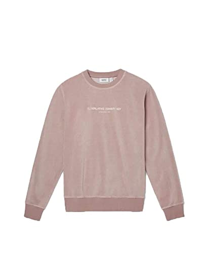 91b8a6ffdf1f WESC Miles Plush Crewneck Sweatshirt Bark  Amazon.co.uk  Clothing