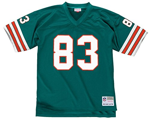 Mark Clayton Miami Dolphins Men's NFL Mitchell & Ness Premier Aqua Jersey