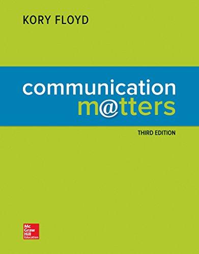 Communication Matters (Looseleaf)
