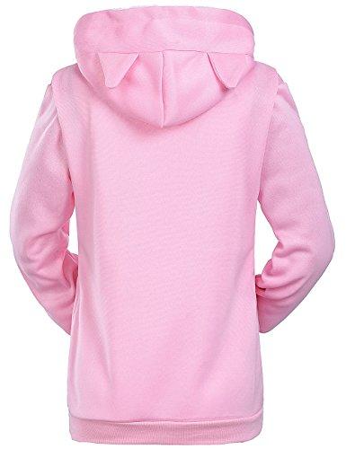 Donna Pink Felpa Cheshirel Con Cappuccio wqvnTZS
