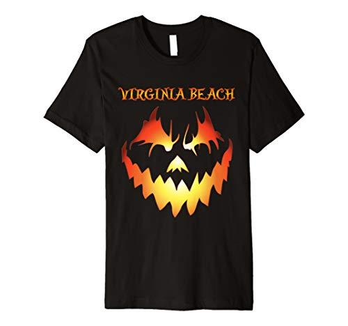 Virginia Beach Jack O' Lantern Halloween Premium Shirt