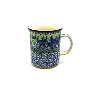 Polish Pottery Mug – Big Straight Sided – Unikat Signature – U4629