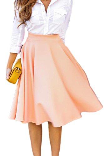 La Mujer Elegante Vintage 1940 50 Ropa De Trabajo Oficina Swing Falda Midi Pink