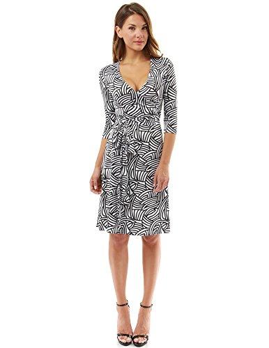 a line black and white dress - 4