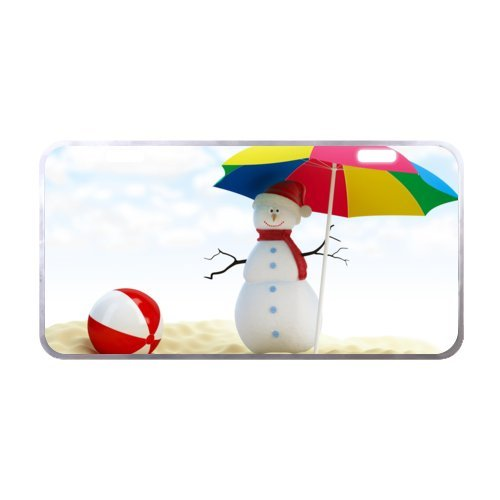 Images Of Snowman Costumes (Closeup Snowman Face w Carrot Nose License Plate with Vivid color and Detail Images-11.8
