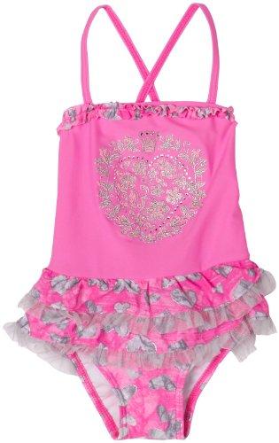 Hula Star Little Girls' Princess Diary Ruffle Skirted One Piece,Pink,2T