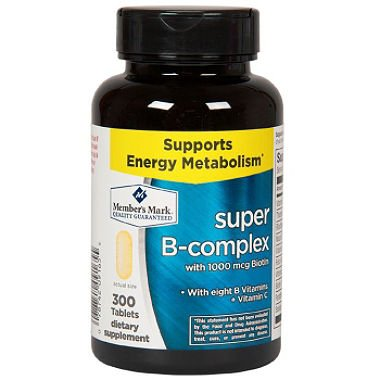 Member's Mark Super B-complex Dietary Supplement (300 ct.) (pack of 6) by Members Mark