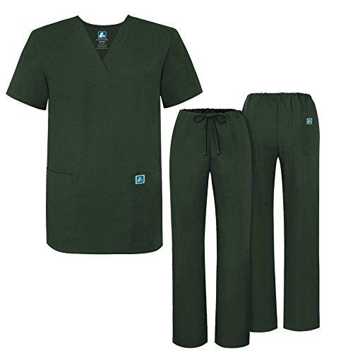 Adar Mens Medical Scrubs Set Medical Uniforms - Roomy Fit - 701 - OLV -XL - Medical Scrub Suit