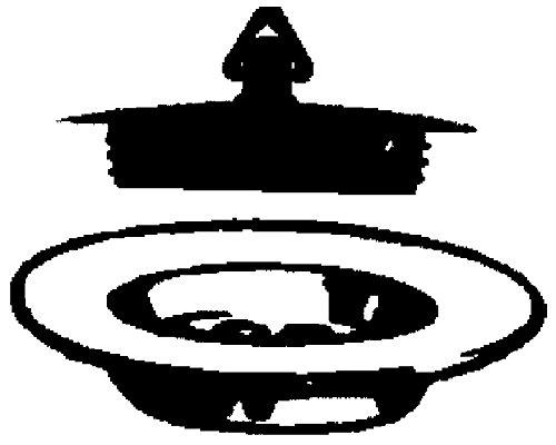 Sanitop-Wingenroth 19153/1/tap/ón de goma universal 32/mm V/álvula de drenaje Tap/ón fregadero//lavabo fregadero negro di/ámetro 32/mm