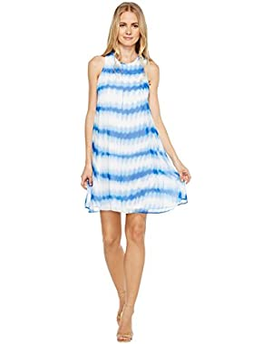 Calvin Klein Womens Stripe Print Trapeze Dress