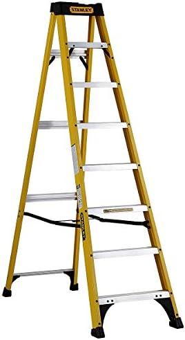 Stanley SXL3110-08E escalera 8 peldaños plegable gris de fibra de vidrio: Amazon.es: Bricolaje y herramientas
