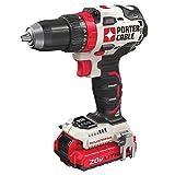 PORTER-CABLE 20V MAX Cordless Drill / Driver Kit, 1/2-Inch (PCCK607LB)