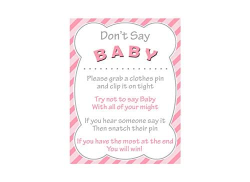 Striking image pertaining to don t say baby free printable