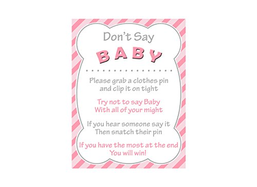 image regarding Free Don't Say Baby Printable named : Boy or girl Shower Dont Say Child Match Signal Do it yourself