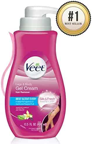 Hair Remover, Veet Gel Hair Removal Cream Sensitive, 13.5 Ounce, Sensitive formula with Aloe Vera and Vitamin E