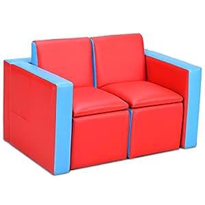 costway Niños Set Sillón Sofá Sofá infantil sofá sillón para ...