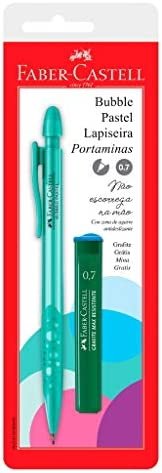 Lapiseira 0.7mm, Faber-Castell, SM/07BBVA, Bubble Pastel, Verde, com Grafite