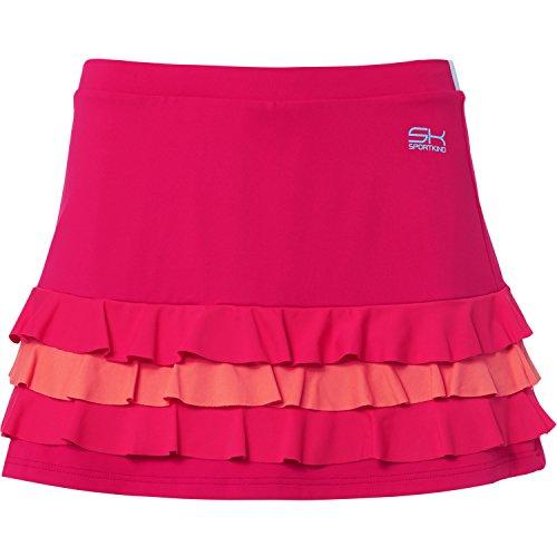 Jupe Tennis pour gazon intgr Sport short volants sur Hockey mixed Femmes et de SPORTKIND avec Filles pink HxAqUdtwH