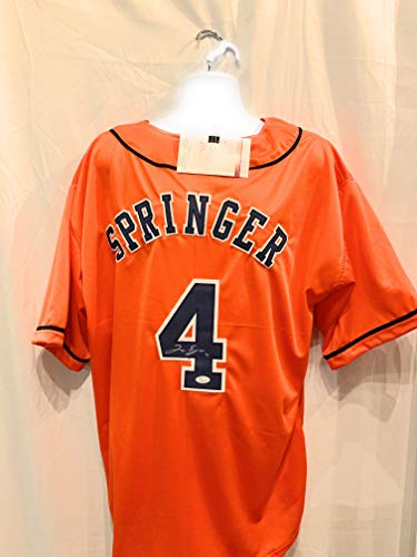 George Springer Houston Astros Signed Autograph Orange Custom Jersey JSA Certified from Mister Mancave