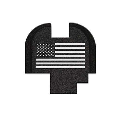 BASTION Laser Engraved Rear Cover Slide Back Plate for Springfield XDS 9mm .40SW .45 ACP Models ONLY - USA Flag ()