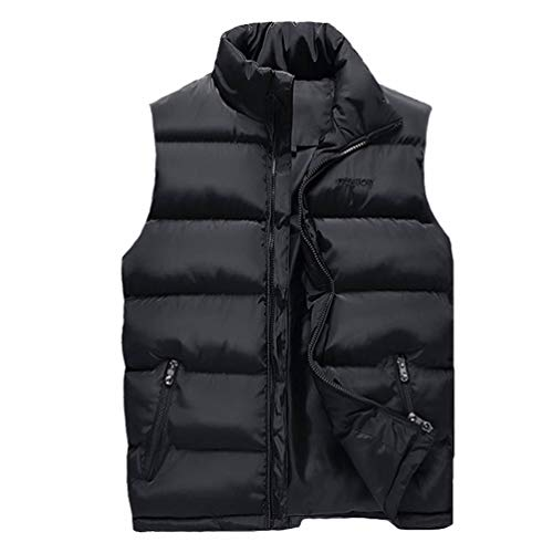 Manches Ultra À De Gilet Doudoune Stand Matelassé Tienew Noir Bodywarmer Légère Epais Sans Homme Manche Manteau Collier Manteaux Glissière 7xqawSxf