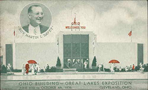 Great Lakes Exposition - Ohio Building, Cleveland OH 1936 Cleveland Original Vintage Postcard from CardCow Vintage Postcards
