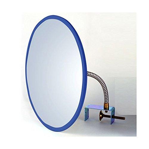 信栄物産 防犯ミラー室内用  丸型 310φ 枠:青  #CR-30BL   B076RRH3V5