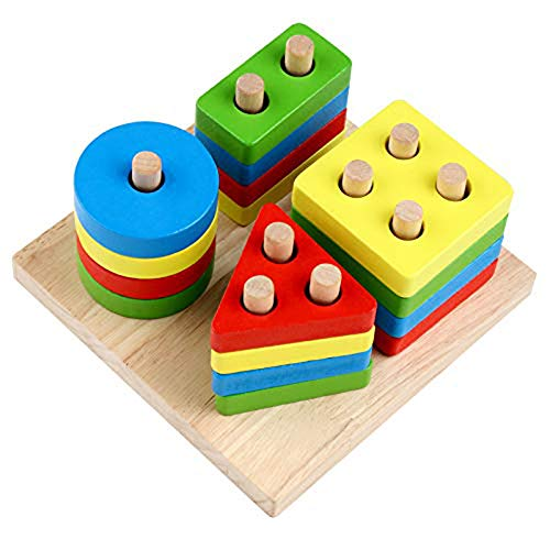 Preschool Learning Toys | Educational Wooden Four Sets