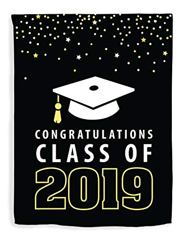 ThisWear Graduation Decor Congratulations Class of 2019 Decorations Graduate Flag Vertical House Flag Grad -