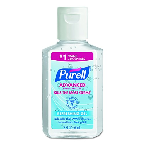 PURELL 9605-24 Advanced Instant Hand Sanitizer, 2 fl. oz. Personal Squeeze Bottle with Flip Top (Case of 24) (Personal Sanitizer)