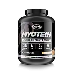 Myotein Protein Powder, French Vanilla 5LB - Best Whey Protein Powder / Shake - Hydrolysate, Isolate, Concentrate & Micellar Casein