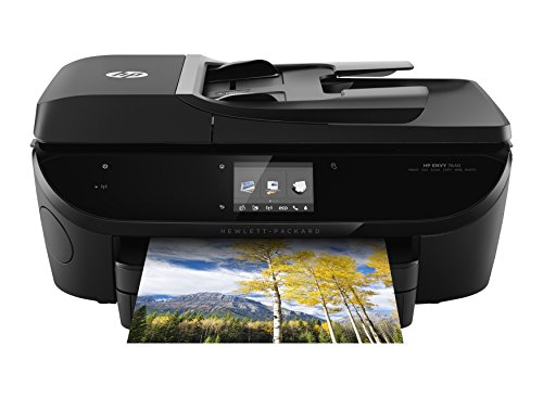 HP Envy 7640 Color All in One Photo Two-Sided Printer Wireless Scanner Copier (Certified Refurbished) (Apples Photo Border)