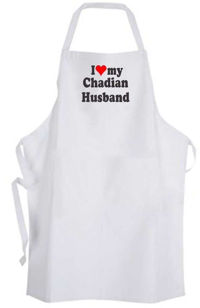 I Love my Chadian Husband – Adult Size Apron – Wedding Marriage Wife