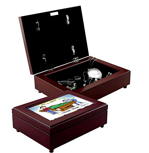 Printed Perfection Personalized Friendly Folks Billiards, Pool Player - Female & Female Jewelry - Keepsake Box Gift Pool Player, Gambler, Pool Shark