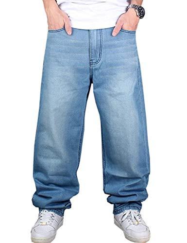 Jeans Hippie Vintage Abiti Pantaloni Danza Denim Moda Casual Sciolti Colour Hip Taglie Uomo Da Comode Hop HBqOH