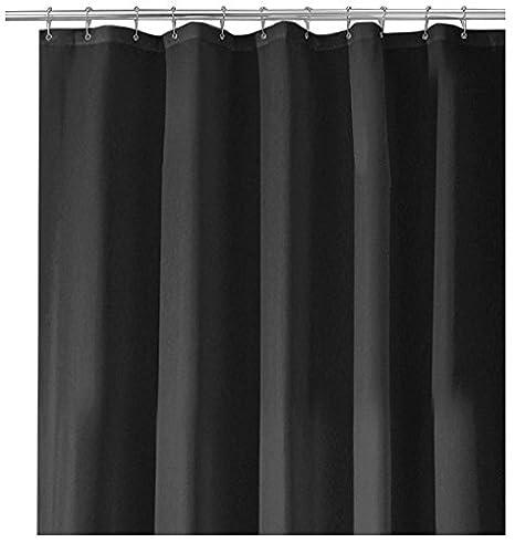 InterDesign Mildew-Free Water-Repellent Fabric Shower Curtain, 72 ...