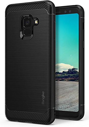 7677af6db62 Ringke [Onyx] Case Compatible with Galaxy A8 2018, Fine Brushed Metal  Design [