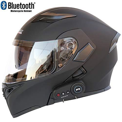오토바이 헬멧 시스템 bluetooth헬멧 남성 오픈 페이스 헬멧 더블 렌즈 풀 페이스 헬멧 (옵션: 색상)