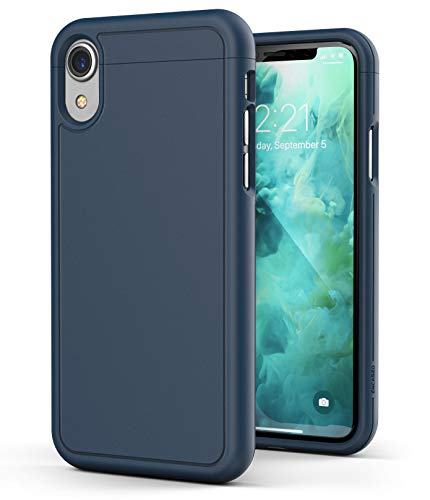 - Encased iPhone XR Slim Case (Slimshield Series) Ultra Thin Armor Protective Hard Cover Rubberized Grip Finish (Navy Blue)