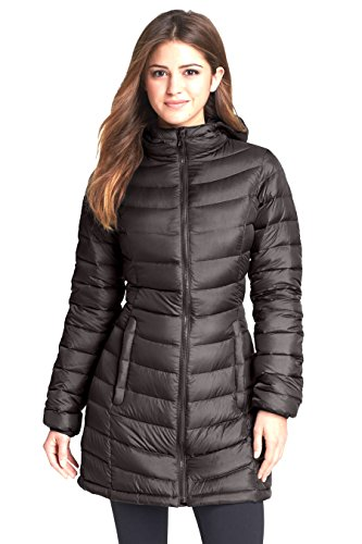 (The North Face Women's 'Jenae' Hooded Down Parka Graphite Grey (Large))