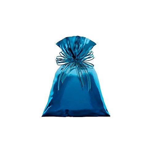 Regina Saco Metalizado 10x13cm Azul - Pacote De 50 Unidades